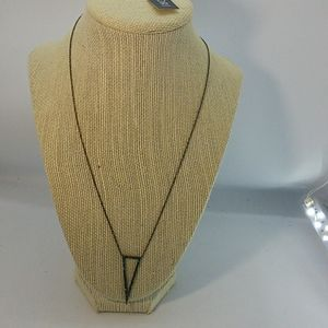 Nadri Triangle Necklace with Green Stones